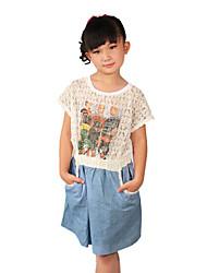 Girl's Summer Micro-elastic Thin Sleeveless Tanks & Camis (Cotton)