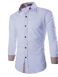Camisa Casual ( Algodão Organico ) MEN - Casual Quadrado - Manga Comprida