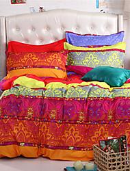 Mingjie laranja e amarelo conjuntos de cama 6d 4pcs queen size e roupa de cama de tamanho completo china conjuntos de cobertura Duvert