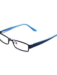 [Free Lenses] Metal Rectangle Full-Rim Fashion Prescription Eyeglasses