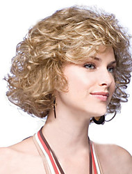 Short Synthetic Wigs Natural Curly Wig For African American Black Women Curly Blone Wigs
