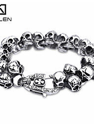 Kalen Men's Jewelry 2015 New Fashion Style Casting Skull Kabbalah Bracelet