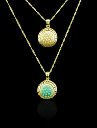 18k verdadeiro banhado a ouro pérola / azul pingente 2.1 * 3 centímetros