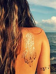 QINMI 2015 Dreamcatcher Women GoldTattoo Metallic Temporary Flash Tattoo Jewelry Tattoo Waterproof Golden Tattoos