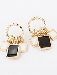 Earring Drop Earrings Jewelry Women Alloy 1set Gold / Black