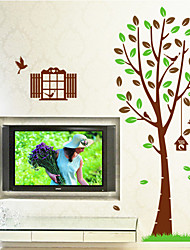 Wall Stickers Wall Decals, Bird and Tree PVC Wall Stickers