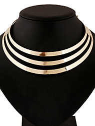 Women's Layered Necklaces Statement Necklaces Alloy Round Euramerican Statement Jewelry Tassels Punk Gold Silver JewelryWedding Party