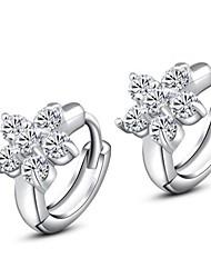 Pure Diamond снег S925 посеребренные серьги шпильки ручной подарок