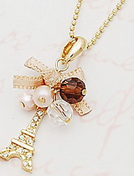 Vintage/Cute/Party/Work/Casual Alloy/Acrylic Pendant Necklace
