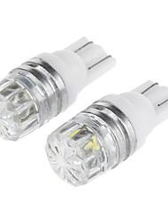 t10 0.5W 100lm 8000k 1 liderada lâmpada de palha chapéu talão legal turno carro luz branca sinal lâmpada / largura / instrumento lâmpada