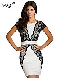 PROMOTION Sexy backless Lace waist Dress women Dress SV001458