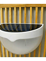 White Light Body Induction Solar Energy Saving Fence Gutter Outdoor Garden Wall Pathway Lamp