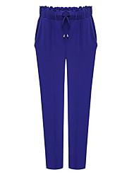 Pantalones ( Poliéster )- Casual / Trabajo Tiro Medio Pantalones Harén para Mujer