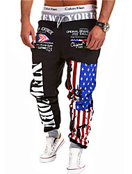 Happyboy Foreign trade new factory direct supply spring 2015 new men's leisure pants male character printing