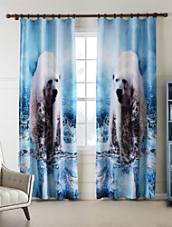 One Panel  Home Fashion Modern Polyester Polar Bear Print Curtain