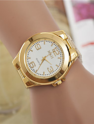 Damen Kleideruhr Modeuhr Armbanduhr Quartz / Legierung Band Bequem Gold Weiß Golden