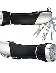 multifuncional lanterna led com ferramentas de campismo e de salvamento martelo