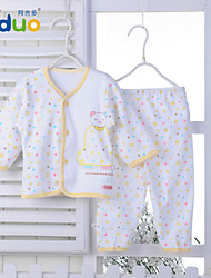 Ajiduo Newborn Baby Boys Girls Cute Infant Pure Cotton Tops and Pants Clothing Set