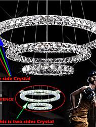 LED Pendant Light Lighting Modern 3 Rings Three Sides K9 Crystal Indoor Ceiling Lights Lamp Fixtures