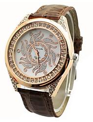 Jini senhoras diamante oval relógio pulseira de discagem costura