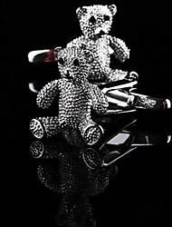 Toonykelly Fashion Men's Silver Copper Teddy Bear Cufflink(1 Pair)