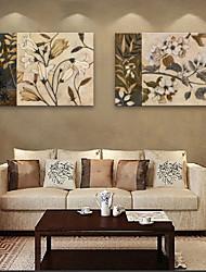 e-HOME lona envuelta flor del arte de la pintura decorativa conjunto de 2