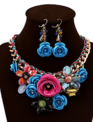 Women Vintage/Party/Work/Casual Alloy/Gemstone & Crystal Necklaces/Earrings Sets