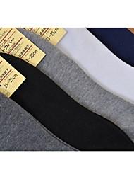 Men Pure Color Boat Thin Section Cotton Blends Socks