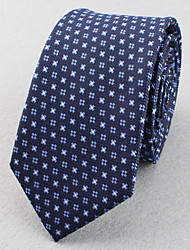 Corbatas ( Rojo/Azul Marino , Poliéster )- Espiga/Modelo/Puntos/Free Form