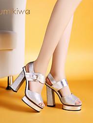 kumikiwa 2015 nouvelles femmes de mode des sandales confortables chaussures talons chunky dame k14xs955