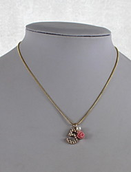 Fashion Alloy/Imitation Pearl/Resin Necklace Five With Flower Pendant Necklaces Daily/Casual