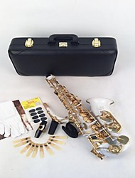 LADE Reed WSS - 896 Gold-Bonded White Alto E Saxophone+ Straps + Cork Cream + Tooth + Cushion + Reed+Leather Box