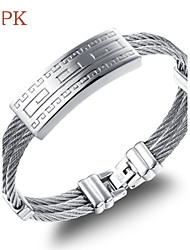 OPK®High Quality Stainless Steel Wire Drawing Plating Men Bracelet