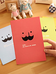 Fashion Beard Style Cute/Business Metal/Paper Creative Notebooks (Random Colors)