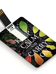 64GB Keep Calm and Carry On Design  Card USB Flash Drive