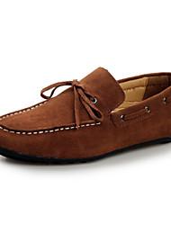 Chaussures Hommes Extérieure / Décontracté Noir / Marron / Jaune / Marine Cuir Chaussures Bateau