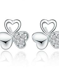 KIKI 925 the Silver Shamrock Earrings