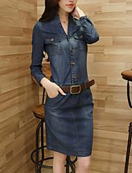 Vestido De las mujeres Casual - Denim