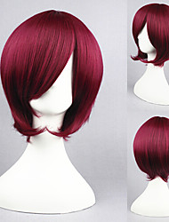 14inch StArry Sky-Yoh Tomoe Wine Red Anime Cosplay Wig