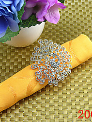 6pcs Peacock Diamond Napkin Ring