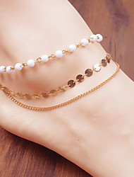Pearl Circle Chain Tassel Anklet Bracelet Body Ring Foot Beach Jewelry