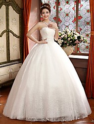 Ball Gown Floor-length Wedding Dress -Strapless Satin