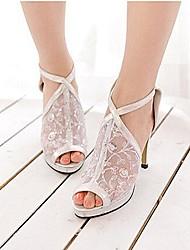 Women's Shoes Stiletto Heel Heels/Peep Toe Sandals Party & Evening/Dress Black/Silver/Gold