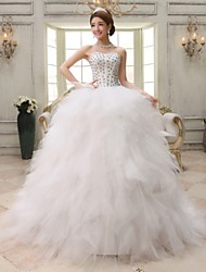 Ball Gown Court Train Wedding Dress -Sweetheart Organza