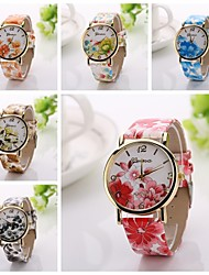 New Fashion Geneva Casual flowers Watch Ladies Golden quartz Watch Fashion Clock women
