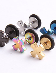 Fashion Stainless Steel   Cross Earrings Ring Body Jewelry Piercing(Random Color)