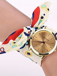 Seven Girl Casual Vintage Diy Floral Print Bow Watch