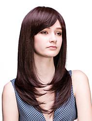 parrucca onda lunga capelli umani senza cappuccio di alta qualità