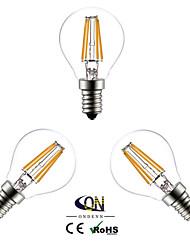 4W E14 Ampoules à Filament LED G45 4 COB 400 lm Blanc Chaud AC 100-240 V 3 pièces