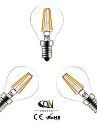 3PCS ONDENN E14 4 W 4 COB 400 LM 2800-3200K K Warm White A Globe Bulbs AC 220-240 V